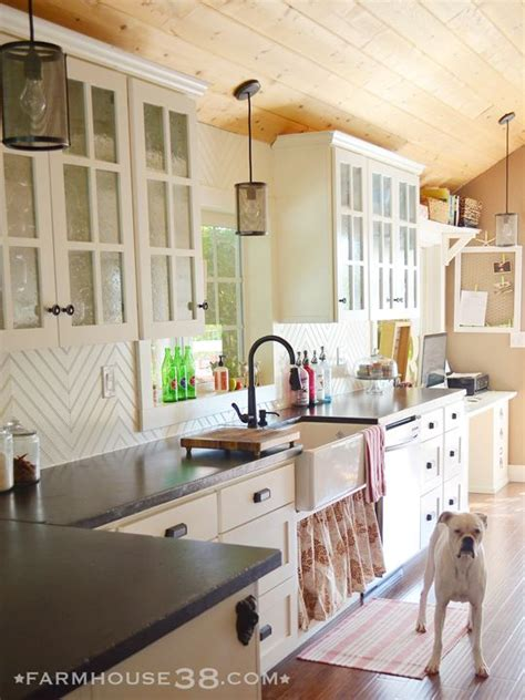 farmhouse kitchen backsplash diy herringbone beadboard backsplash white cabinets cabinets and sinks