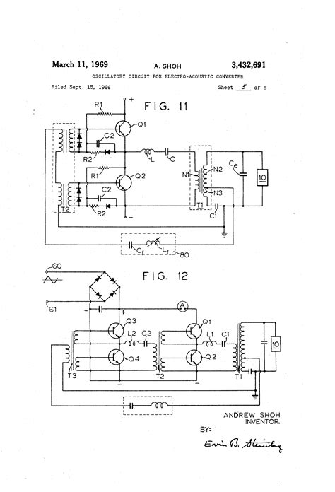 patent us3432691 oscillatory circuit for electro