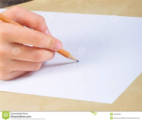 paper write write on a blank paper stock photos image 24866323