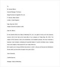 Invitation Letter For Business Meeting Doc Business Invitation Letter 9 Free Documents In Pdf Word