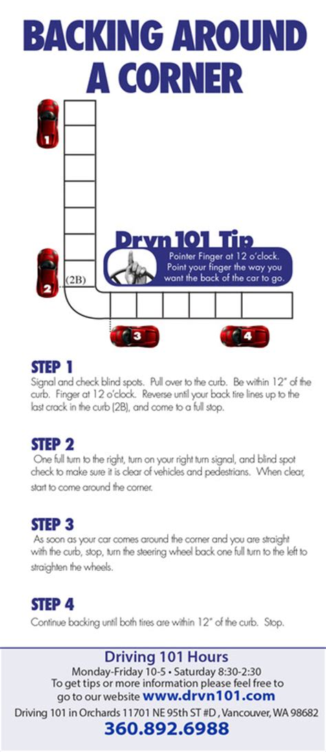 how to back up driving school