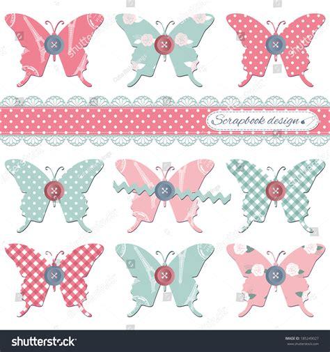 design elements textiles scrapbook design elements textile butterflies with