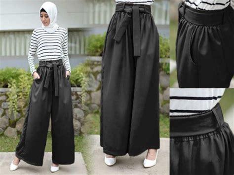Celana Kulot Des kontruksi pola busana muslim macam macam celana