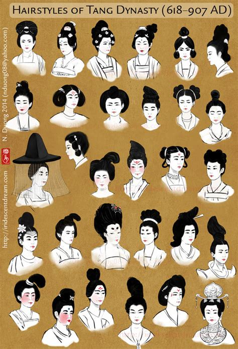 history of chinese hairstyles hairstyles of china s tang dynasty women by lilsuika on