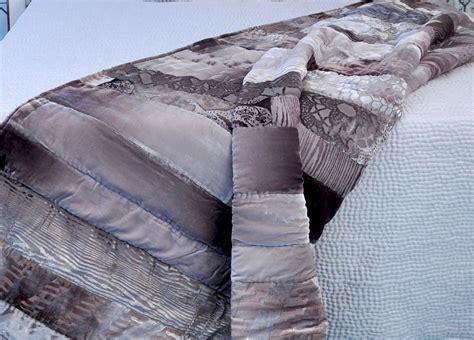 Velvet Patchwork Comforter - kevin o brien studio bedding velvet mosaic patchwork