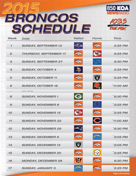 printable raiders schedule 2015 2015 denver broncos schedule wallpaper wallpapersafari