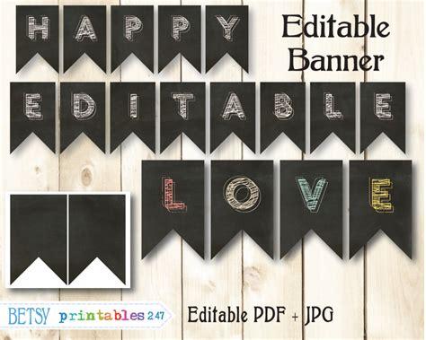 printable chalkboard banner bandera de pizarra editables banderines banner por