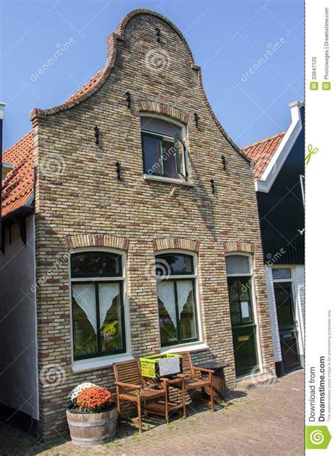 facade    dutch house stock photo image  cycle