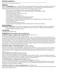 Electrical Engineer Resume Sles by Avionics Engineering Resume Sales Engineering Lewesmr