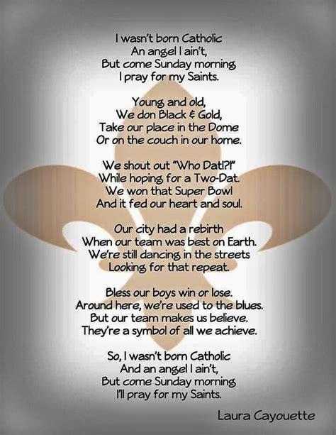 pray    orleans saints beautiful poem  orleans saints saints sunday morning