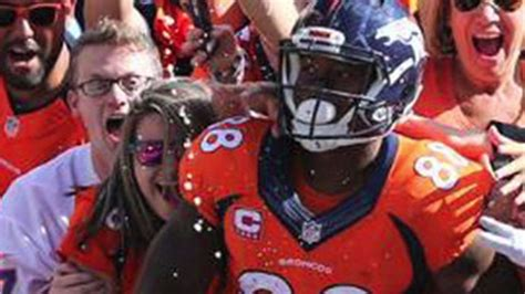 demaryius thomas tattoo demaryius end zone leap makes fan s season