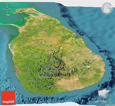 sri lanka satellite map satellite panoramic map of sri lanka