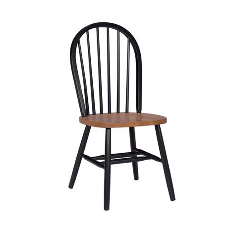 Black And Wood Dining Chairs International Concepts Black And Cherry Wood Spindle Back Dining Chair C57 212 The