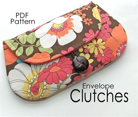printable envelope clutch pattern envelope clutches pdf sewing pattern