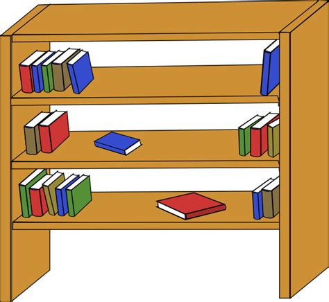furniture library shelves books clip at clker