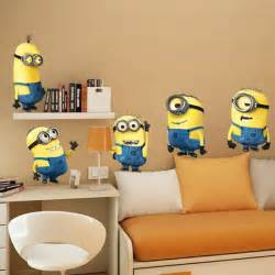 exceptional Minion Bedroom Decor #1: despicable-me-kids-bedroom-wallpaper.jpg
