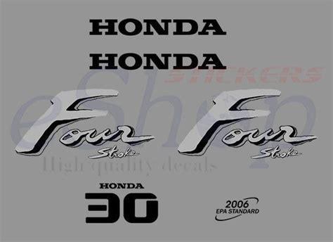 Honda Four Stroke Aufkleber by Decals Stickers Set Kit Honda Outboard Four And 50 Similar