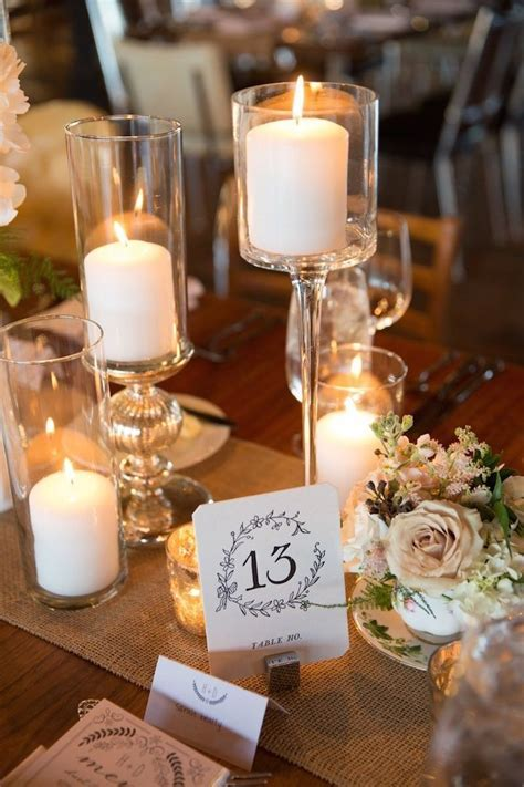 25  best ideas about Candle Wedding Centerpieces on