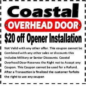 Overhead Door Coupons Coastal Overhead Door Sales For Repairs And Replacements