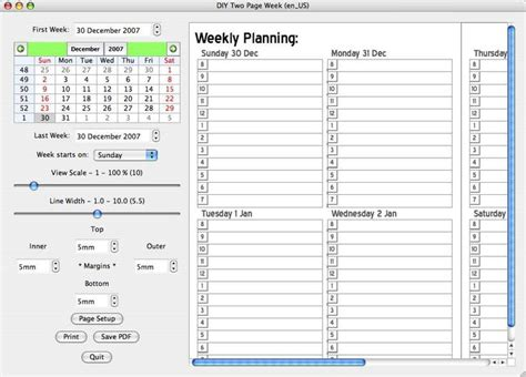 diy planner template dynamic templates for creating weekly planners