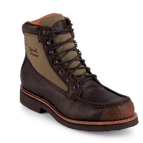 toe boots mens s chippewa 174 6 quot waterproof moc toe boots 201614