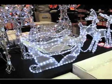 rope lighted christmas deer 3d led rope light sleigh reindeer the warehouse
