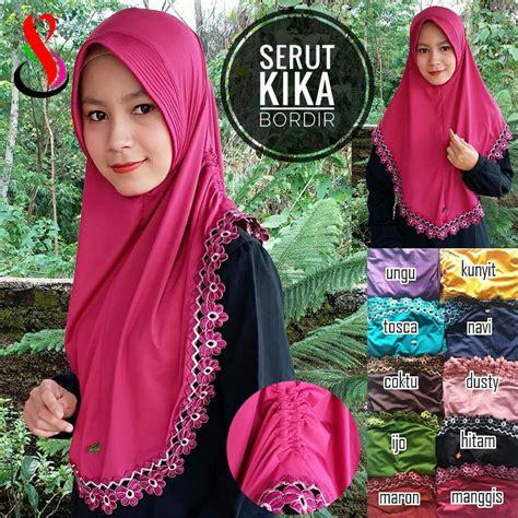 Jilbab Anak Serut Kika kerudung serut kika bordir sentral grosir jilbab kerudung i supplier jilbab i retail