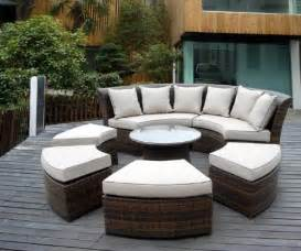 Curved Patio Furniture Set by Rattan Garden Furniture The Garden And Patio Home Guide