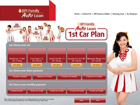 house loan bpi bpi family auto loan makes buying your 1st car easier