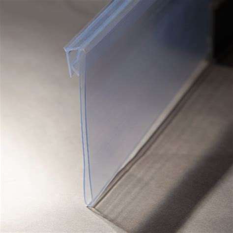 Plastic Shelf Holders by Plastic Clear Hinged Shelf Label Holders Buy Shelf Label