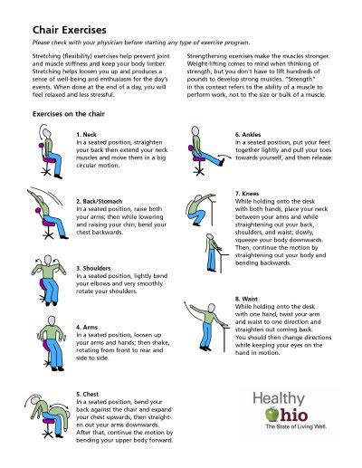 chair exercises at work for stomach chair exercise low level effort great start healthaware