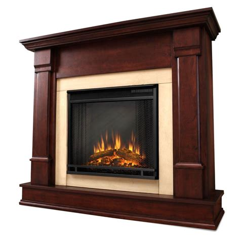 Brown Electric Fireplace by Real Silverton 48 In Electric Fireplace In