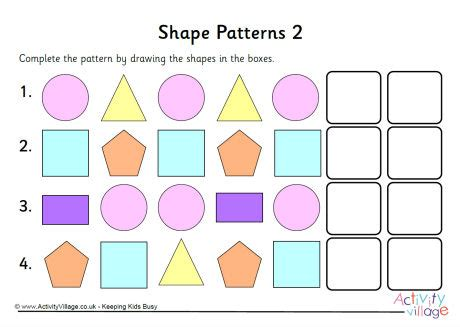 pattern shapes pictures shape patterns 2