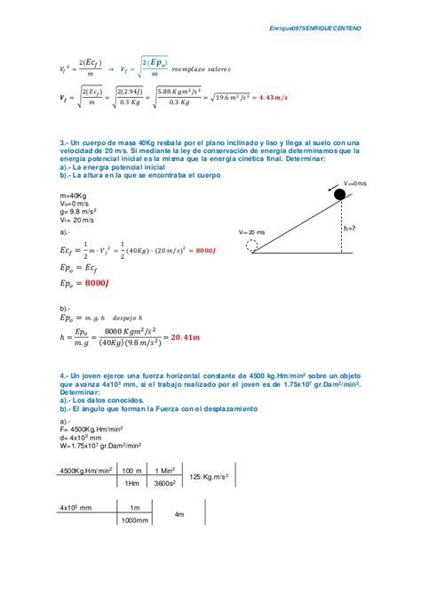 fsica y qumica 1 846739384x 87 fsica y qumica ejercicios resueltos del tema 9 energa 1 texto no magnitudes fisicas y