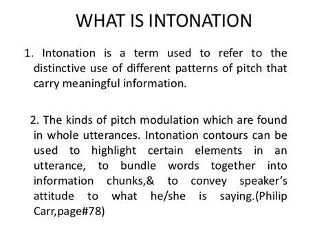 intonation pattern with exles intonation