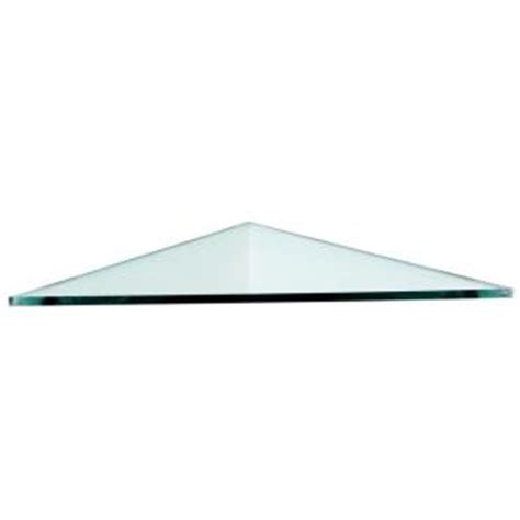 home depot glass shelves floating glass shelves 3 8 in triangle glass corner shelf price varies by size t16 the home
