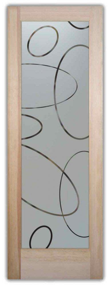 Etched Glass Doors Ovals Pattern Frosted Glass Door Sans Glass Door Etching Designs
