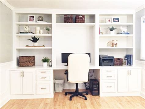 built in desk ideas for home office built in desk reveal hometalk