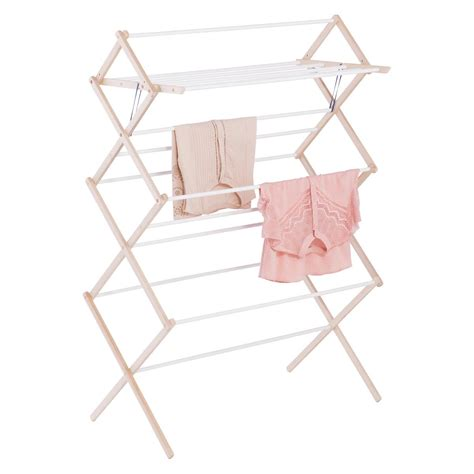 Clothes Dryer Shelf by 15 Dowel Wooden Clothes Drying Rack The Container Store
