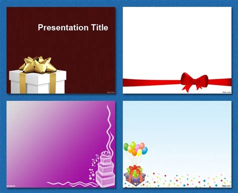 Birthday Celebration Party Free Powerpoint Templates Birthday Ppt