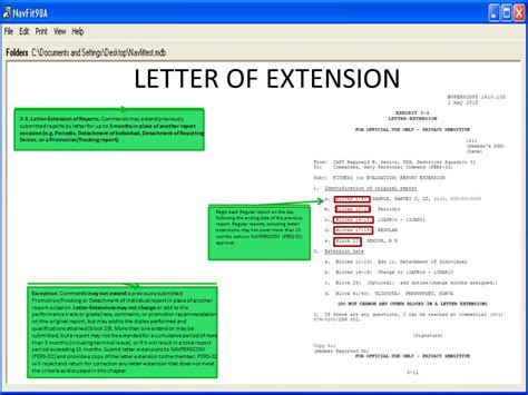 Navy Evaluation Letter Of Extension Evaluation Fitness Report Ppt