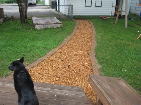 wood chip backyard 12 best images about patio ideas on pinterest gingham fabric fire pits and porch