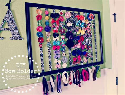 How To Make A Hanger Holder - diy bow holder through my