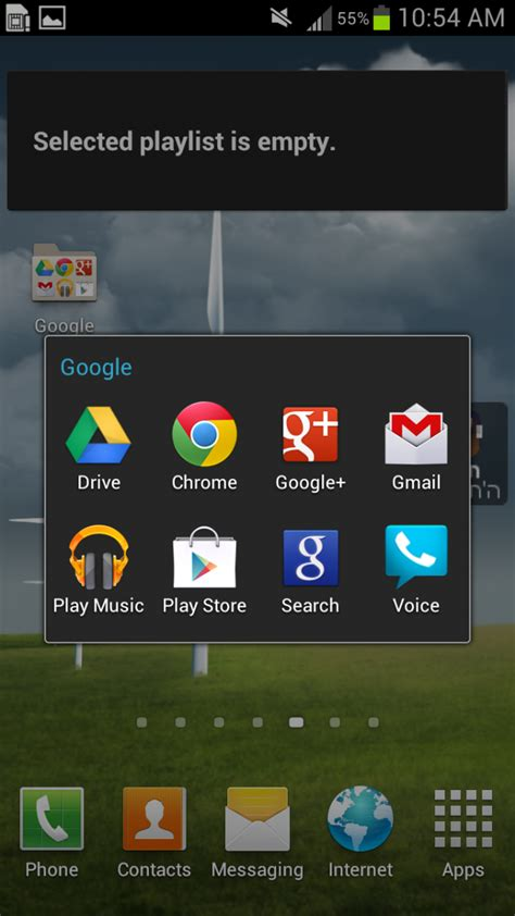 samsung galaxy y wit apps directories how to organize app icons into folders on the samsung