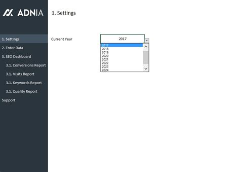 Seo Metrics Dashboard Template Adnia Solutions Seo Dashboard Template