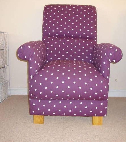 polka dot armchair clarke berry purple dotty spot fabric armchair nursery