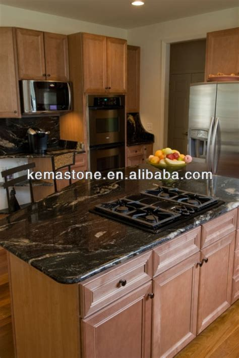 granite top island kitchen table cosmic black granite kitchen island table tops view
