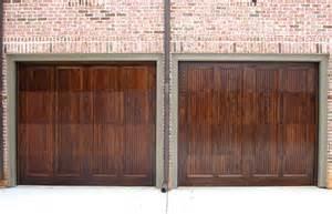 Wood Stained Garage Doors Wood Stained Garage Doors By Carriage House Ads Custom Garage Doors