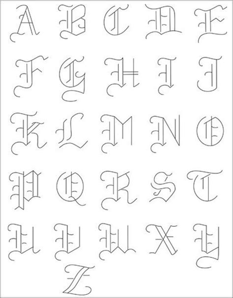 simple tattoo fonts simple font alphabet www imgkid the image