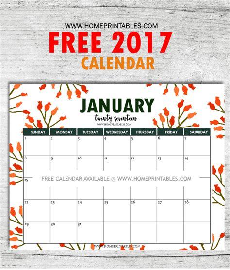 printable calendar 2017 with designs free january 2017 calendar printable all new designs